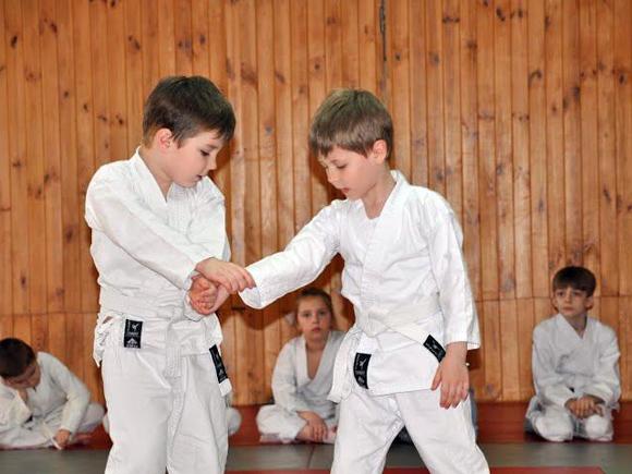 В детской группе айкидо зал на ст. м. Каширская