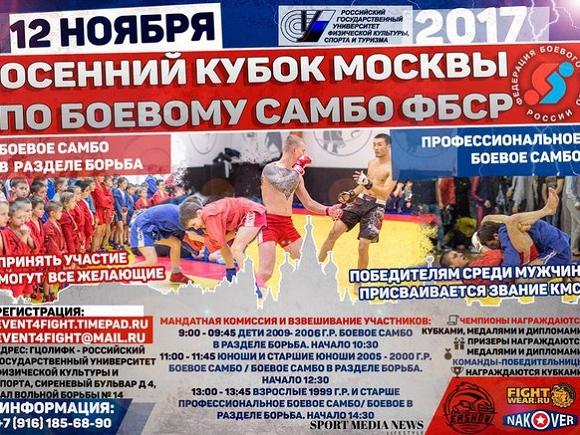 12.11.2017г. Открытый кубок Москвы и МО по Боевому самбо